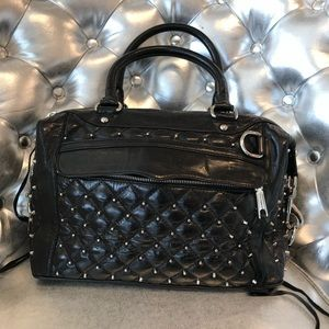 Rebecca Minkoff black leather studded tote